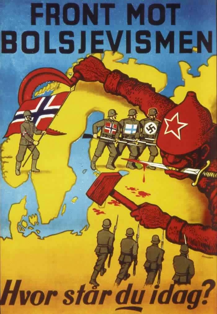 Фронт против большевиков. На чьей стороне вы находитесь сегодня? -- Дания (1942 год)
