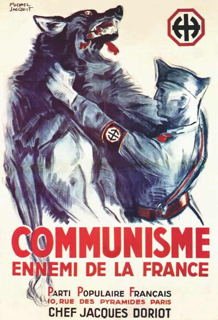 Коммунизм враг Франции -- Франция (1942 год)