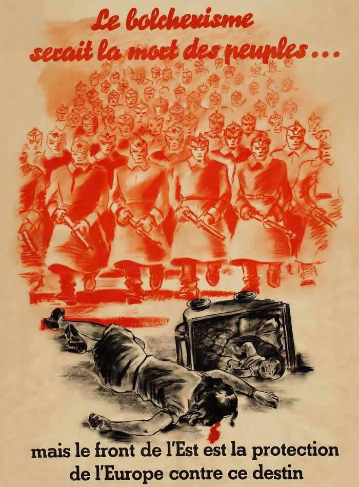 Большевизм несет смерть всем народам -- Франция (1943 год)