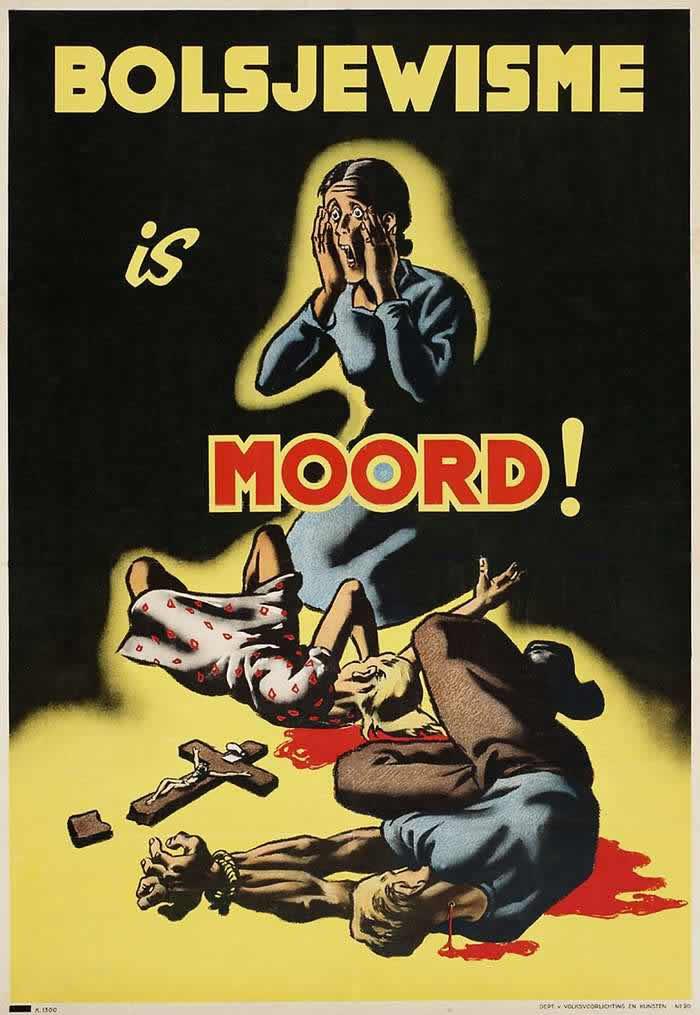 Большевизм - это смерть -- Германия для территорий Нидерландов и Бельгии (1943 год)