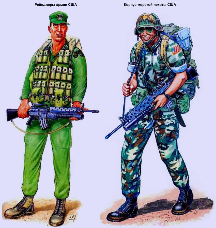 Рейнджеры армии США и корпус морской пехоты