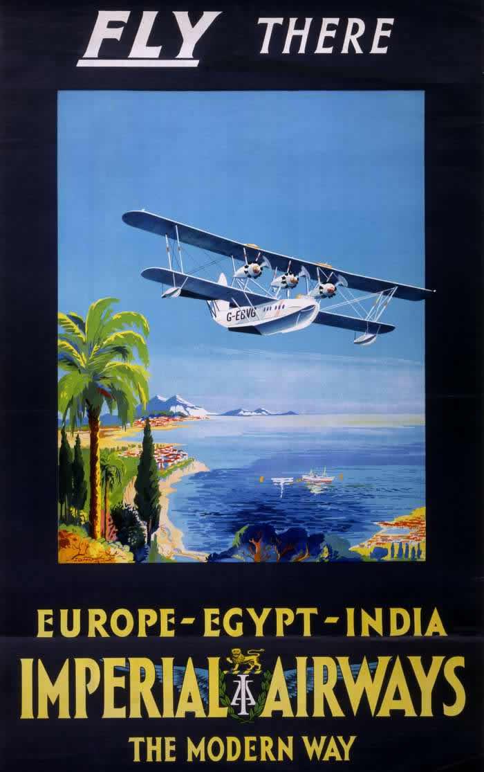 Летайте авиакомпанией Imperial Airways -- Европа - Египет - Индия (1928 год)