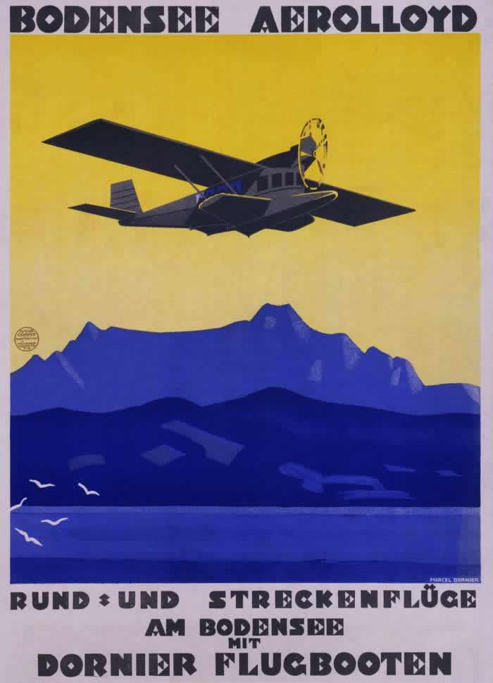 Полеты над Боденским озером на летающих лодках Дорнье (1929 год)