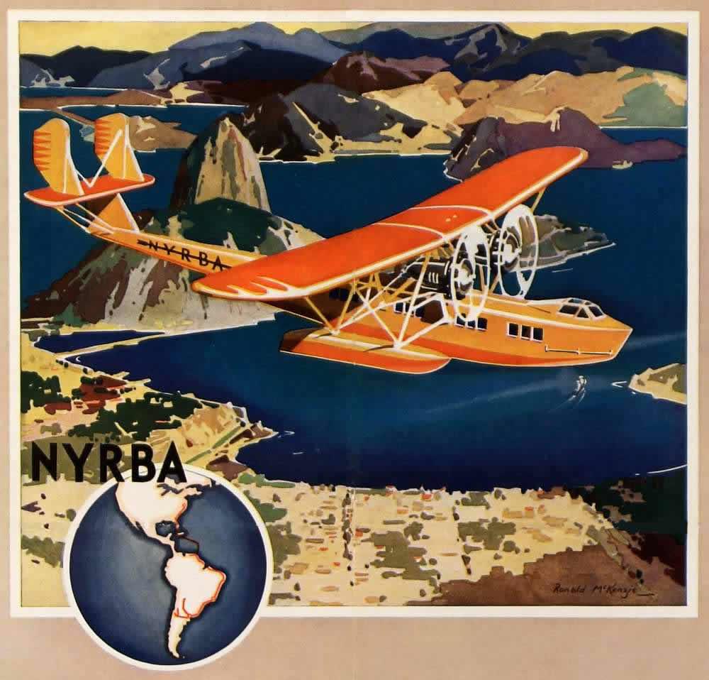 Авиакомпания NYRBA. Полеты по маршруту Нью-Йорк - Рио-де-Жанейро - Буэнос-Айрес