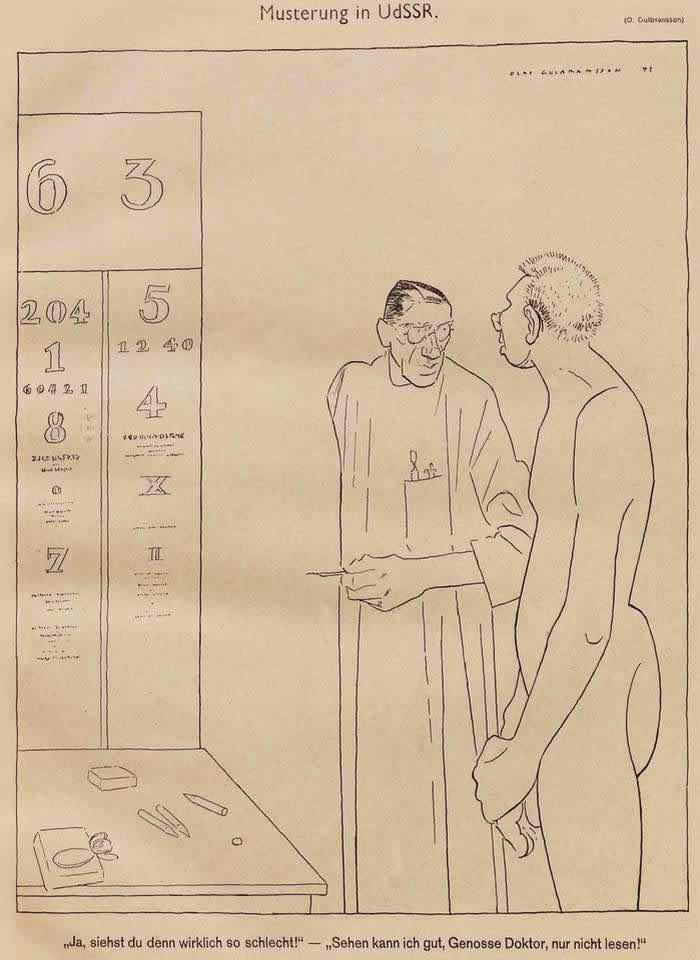 Медицинский осмотр в СССР (Simplicissimus)