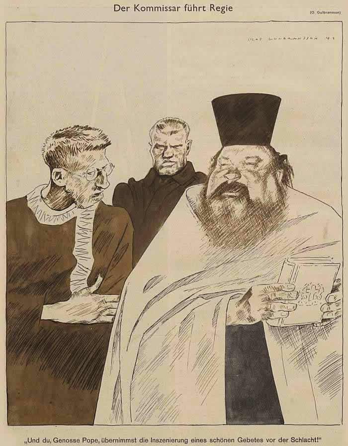 Комиссар дает указания священникам по поводу дальнейшего направления их деятельности (Simplicissimus)