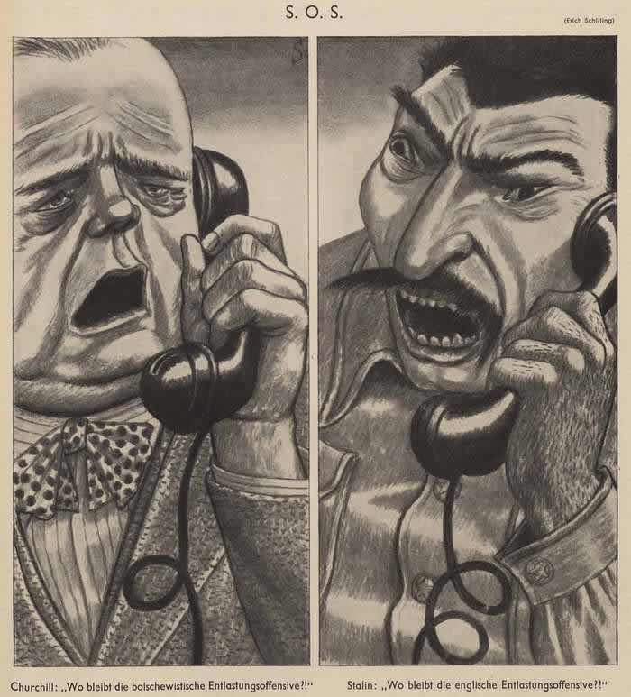 Черчилль и Сталин (Simplicissimus)