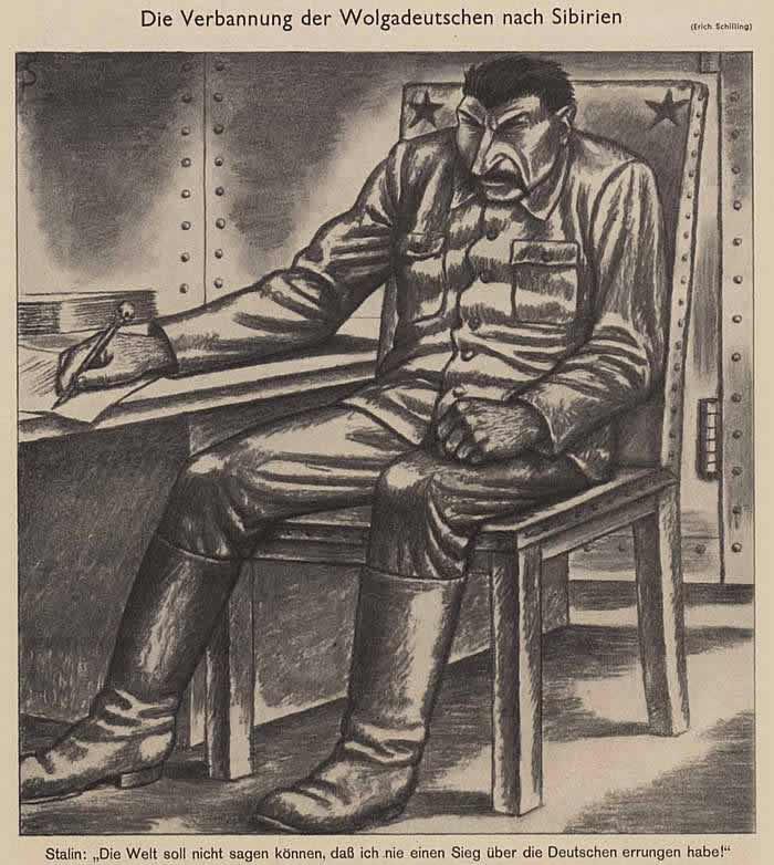Высылка поволжских немцев в Сибирь (Simplicissimus)
