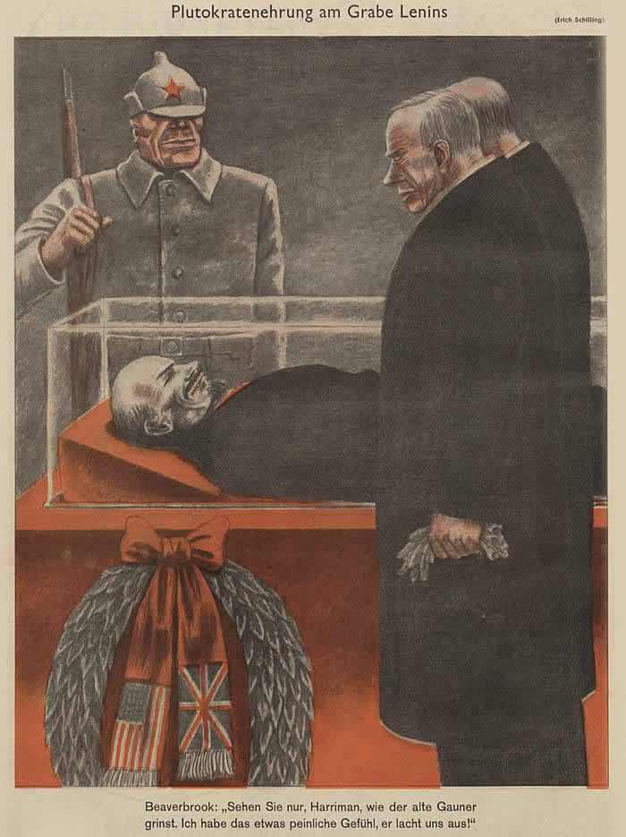Плутократы на церемонии перед гробом Ленина - Simplicissimus