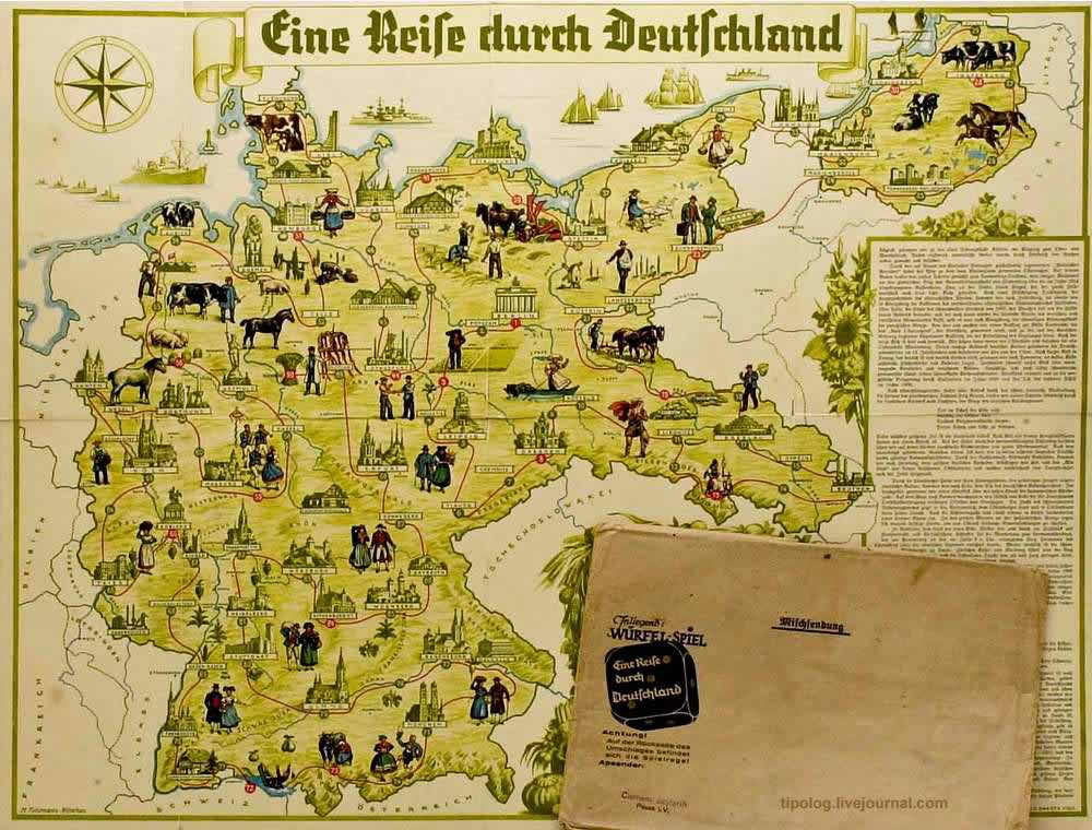 Путешествие по Германии - настольная игра (1934 год)