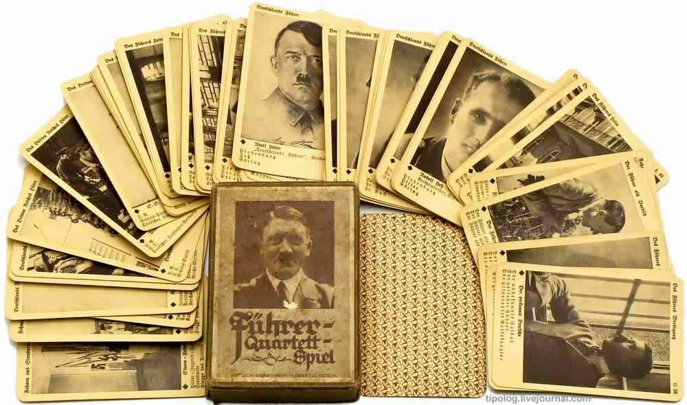 Игральные карты с изображениями фюрера и других нацистских вождей (1935 год)