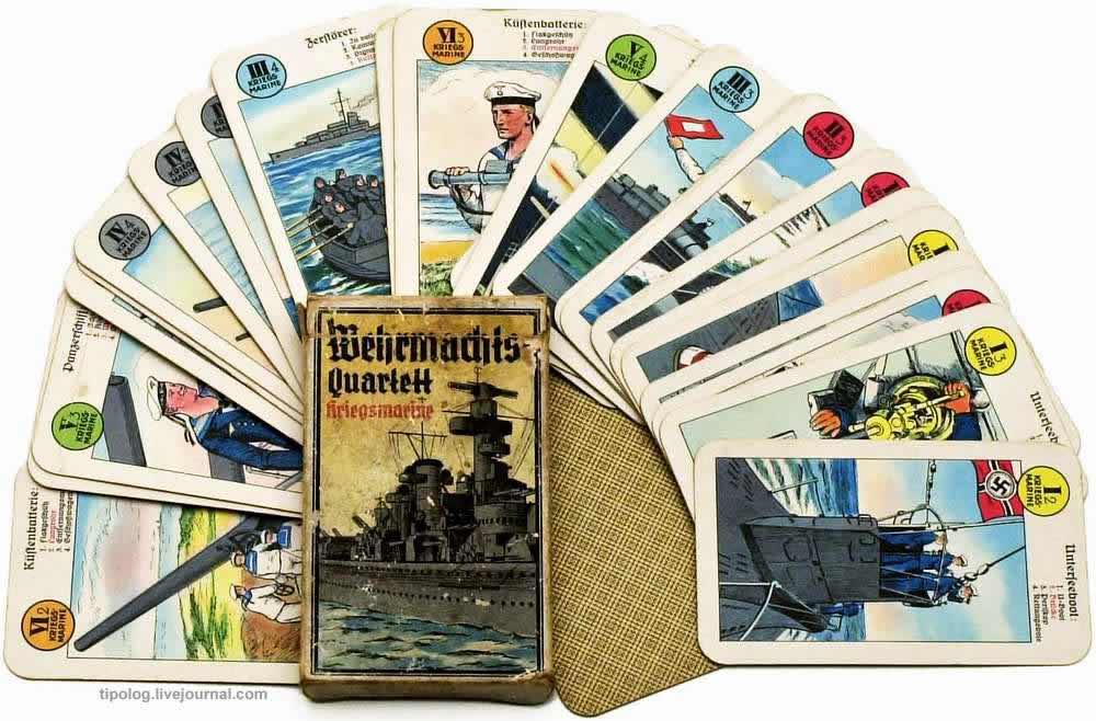Немецкий военно-морской флот - колода игральных карт (1937 год)