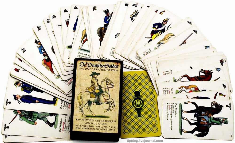 500 лет немецкому солдату - колода игральных карт (1937 год)