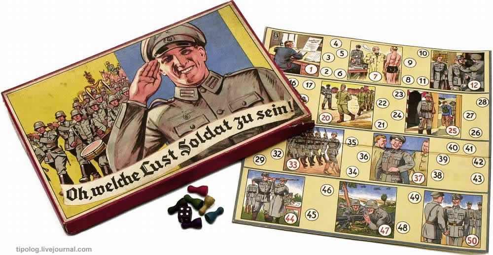 О, как весело быть солдатом - настольная игра (1937 год)