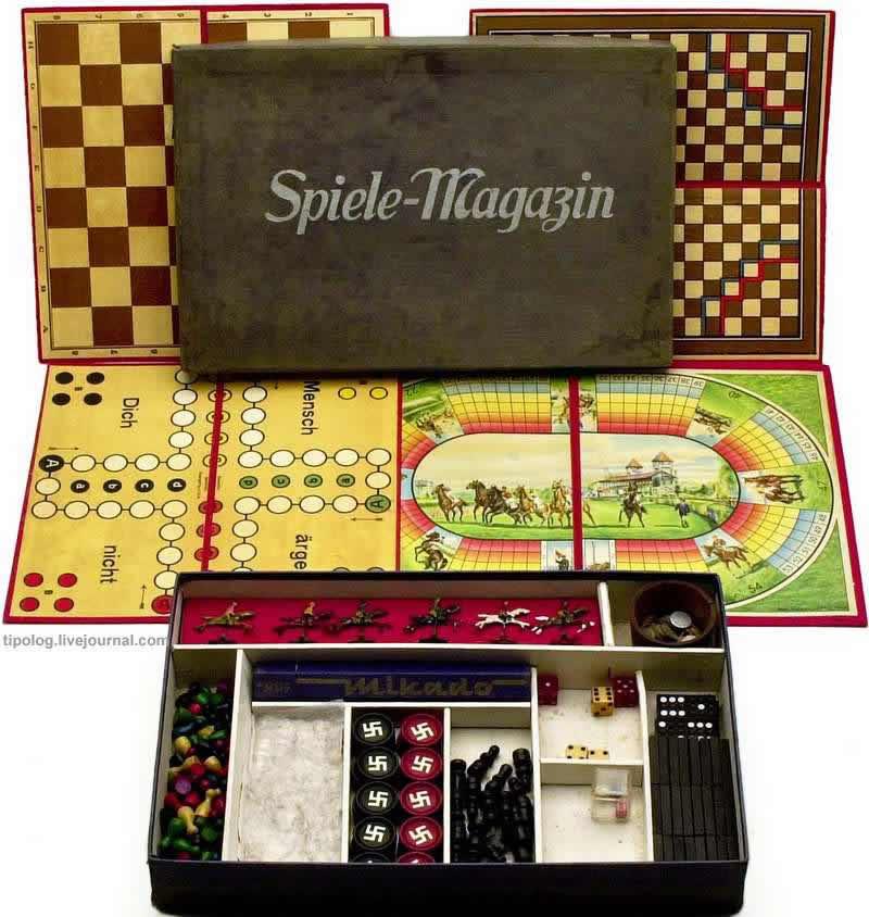 Типовой набор настольных игр для немецких солдат (1938 год)