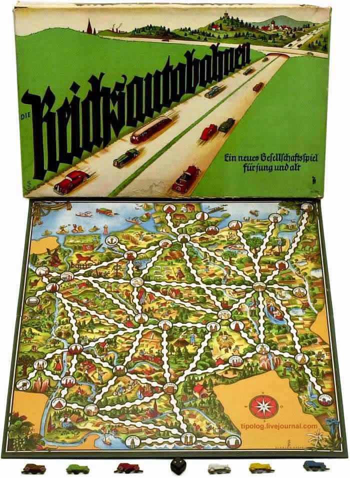 Путешествие по автомобильным дорогам III Рейха - настольная игра (1938 год)