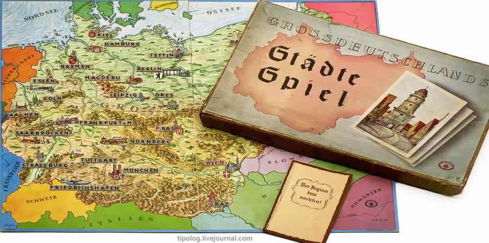 Города Великой Германии - настольная игра (1940 год)
