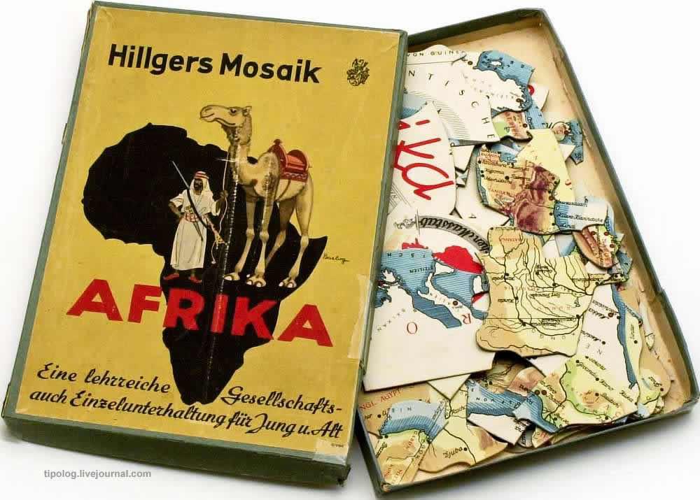 Немецкие колонии в Африке - набор пазлов (1940 год)