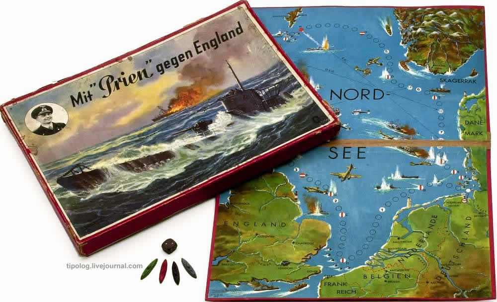 Немецкий подводный флот против Англии - настольная игра (1940 год)