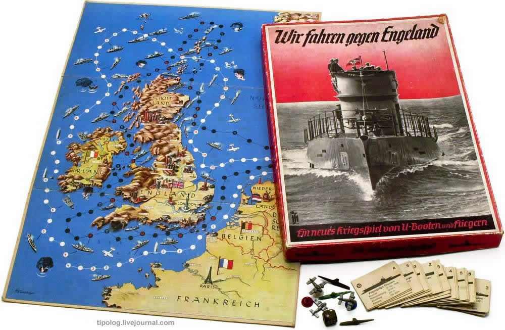 Мы отправляемся воевать против Англии - настольная игра (1941 год)