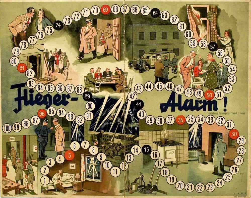 Воздушная тревога - настольная игра (1942 год)