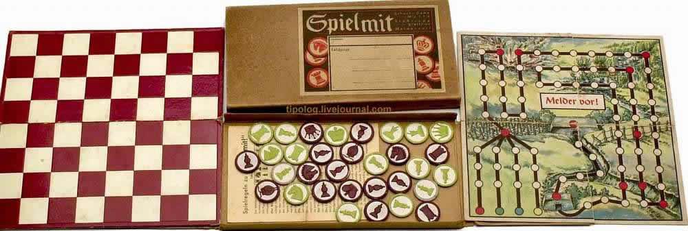 Рейд за линию фронта (в составе типового набора солдатских настольных игр) - (1942 год)