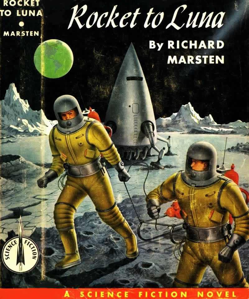 Обложка книги Ричарда Марстена - Rocket to Luna - (Ракета до Луны)