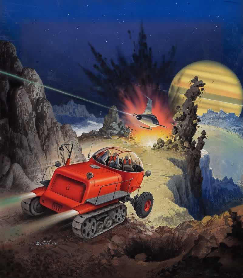 Рисунок для обложки книги Алана Нурса - Trouble on Titan - (Проблемы на Титане)