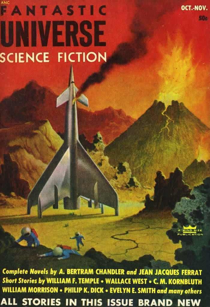Обложка журнала - Fantastic Universe - (Фантастическая Вселенная) - октябрь 1953 года