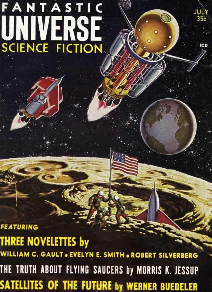 Космические корабли будущего - обложка журнала - Fantastic Universe - июль 1958 года