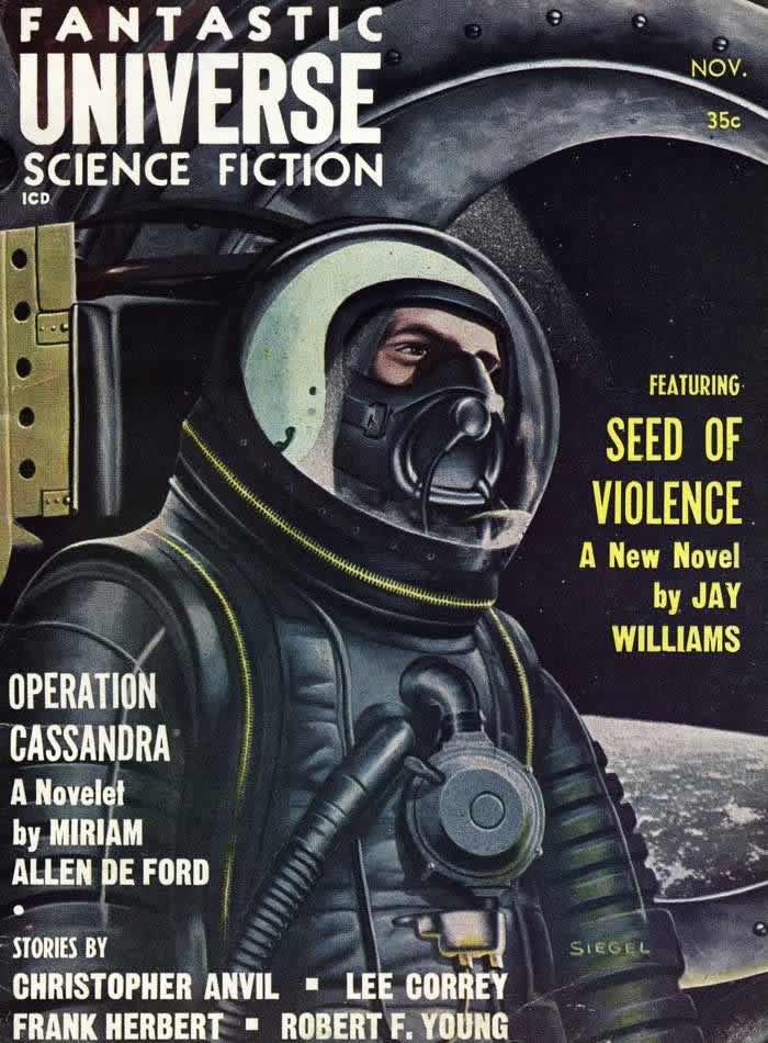 Семена насилия - обложка журнала - Fantastic Universe - ноябрь 1958 года