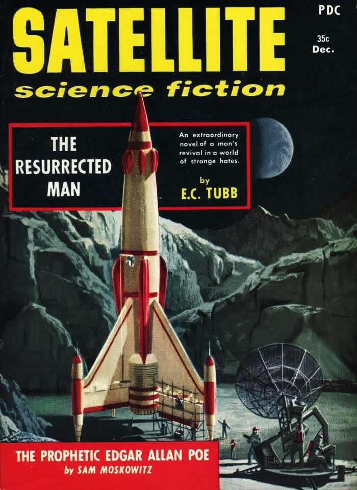 Воскресший человек - обложка журнала - Satellite - декабрь 1958 года