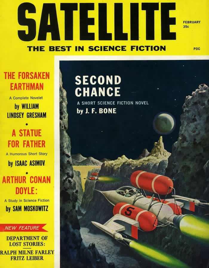 Второй шанс - обложка журнала - Satellite - февраль 1959 года
