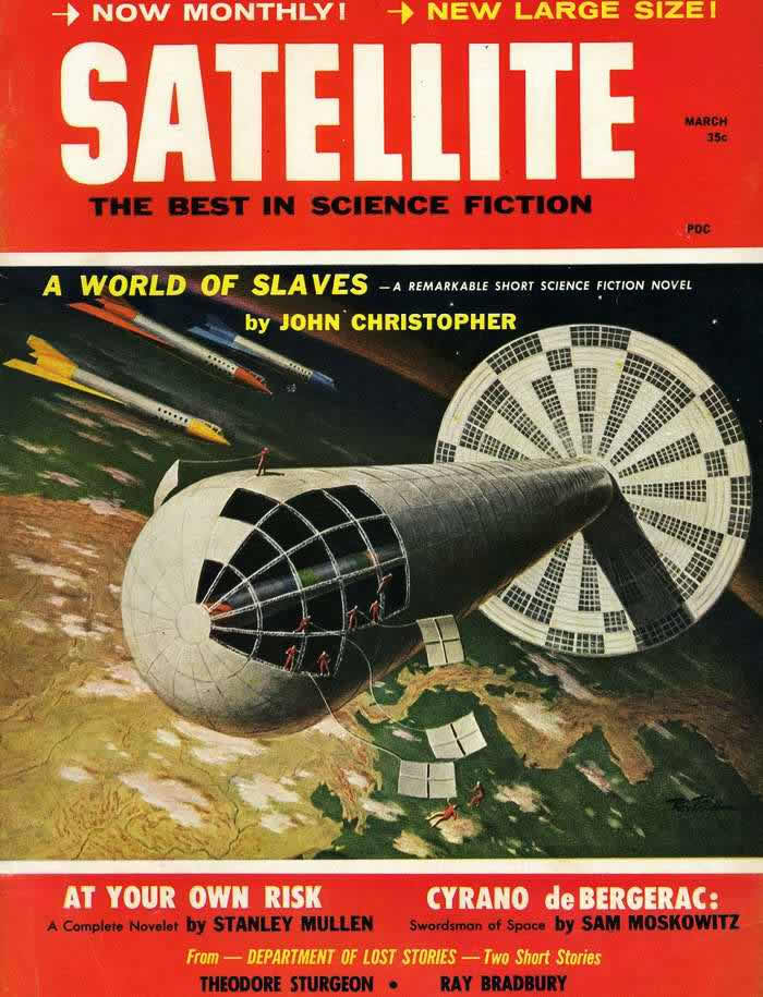 Мир рабов - обложка журнала - Satellite - март 1959 года