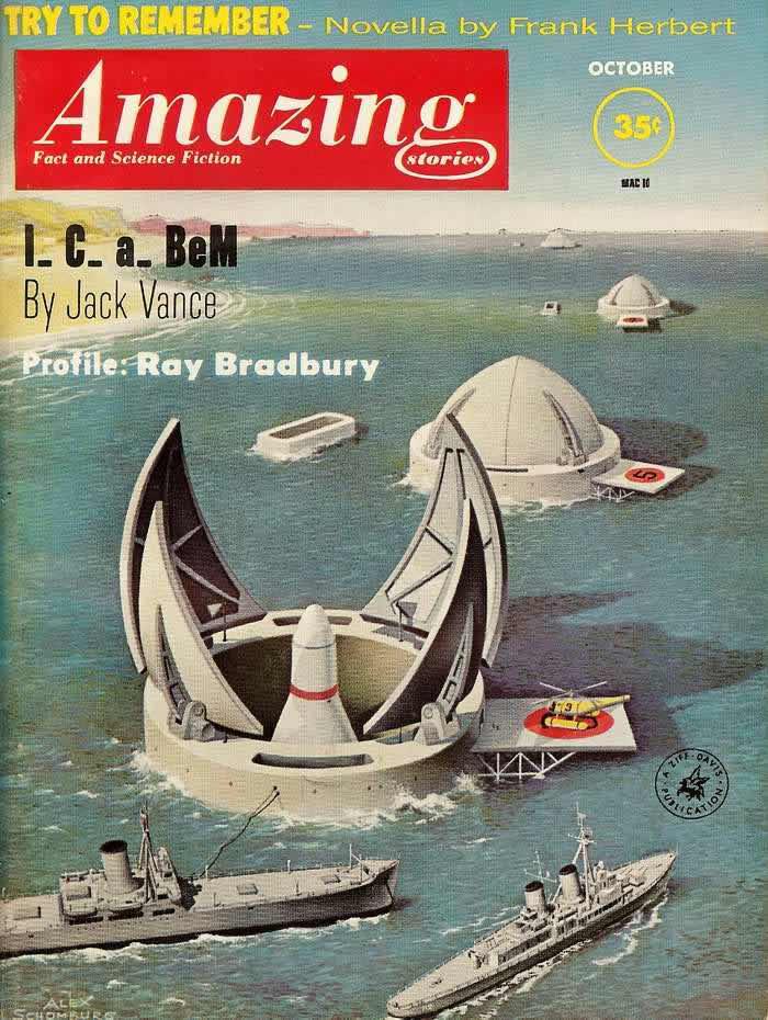 Постарайся вспомнить - обложка журнала - Amazing Stories - октябрь 1961 года
