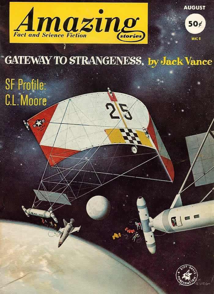 Ворота в космическую даль - обложка журнала - Amazing Stories - август 1962 года