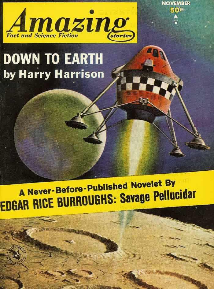 Назад к Земле - обложка журнала - Amazing Stories - ноябрь 1962 года