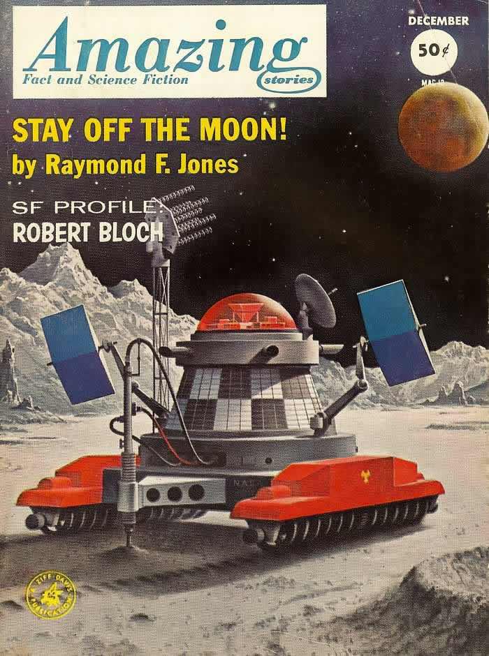 Оставленные на Луне - обложка журнала - Amazing Stories - декабрь 1962 года
