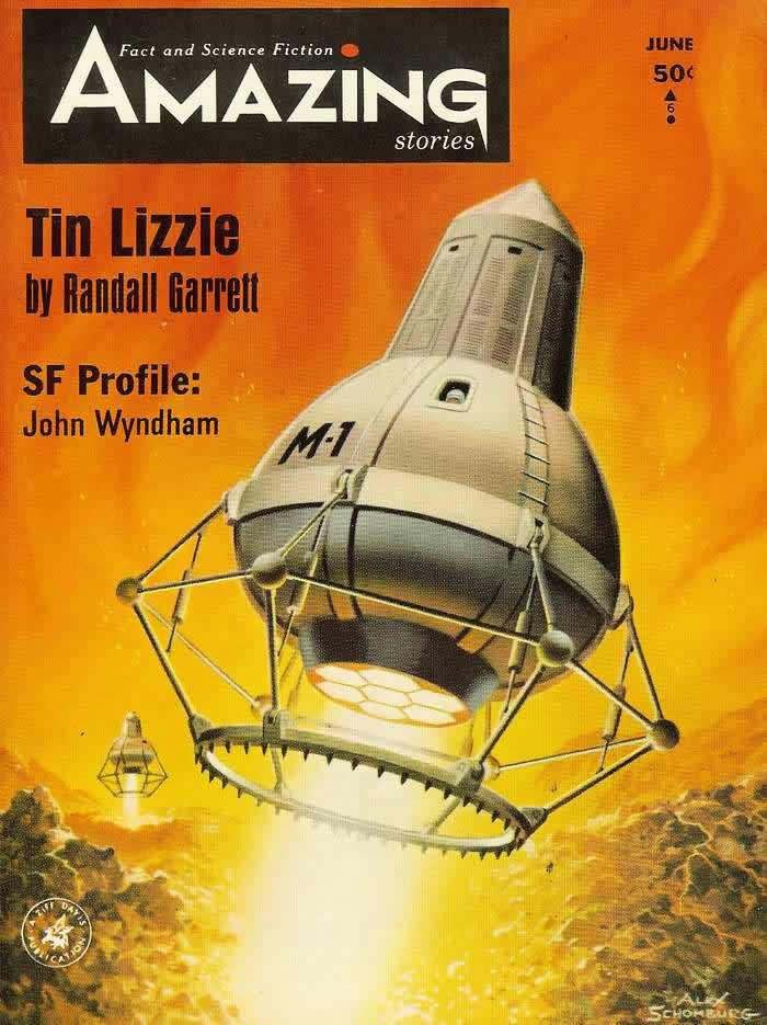 Средства передвижения - обложка журнала - Amazing Stories - июнь 1964 года