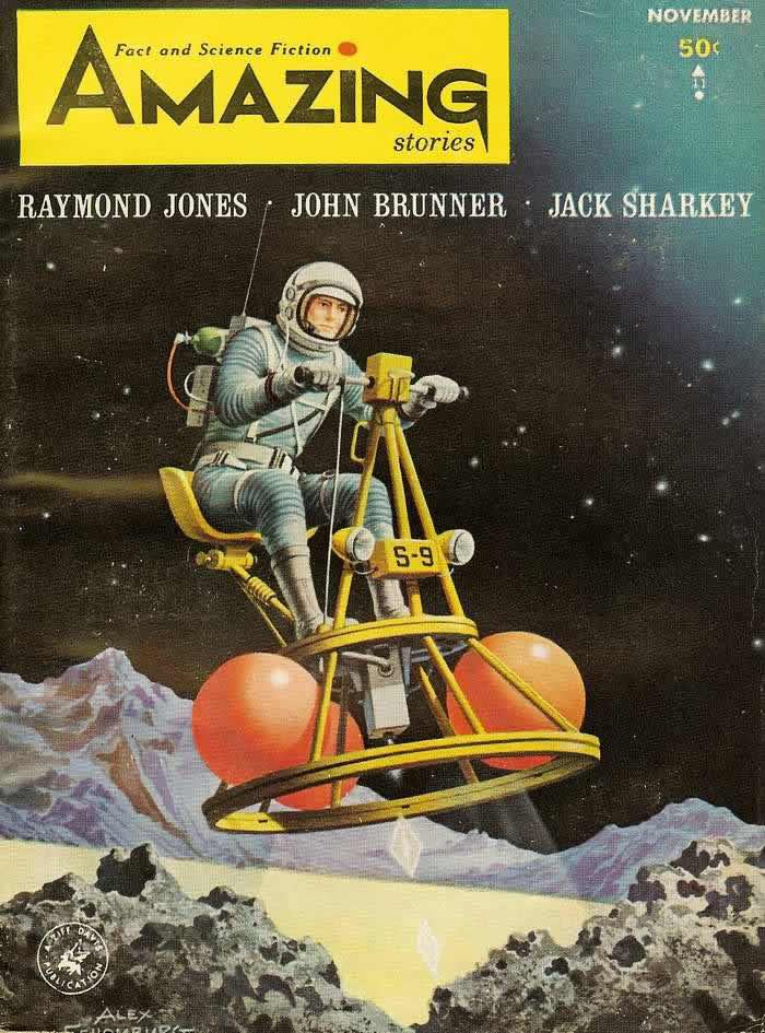 Обложка журнала - Amazing Stories - ноябрь 1964 года