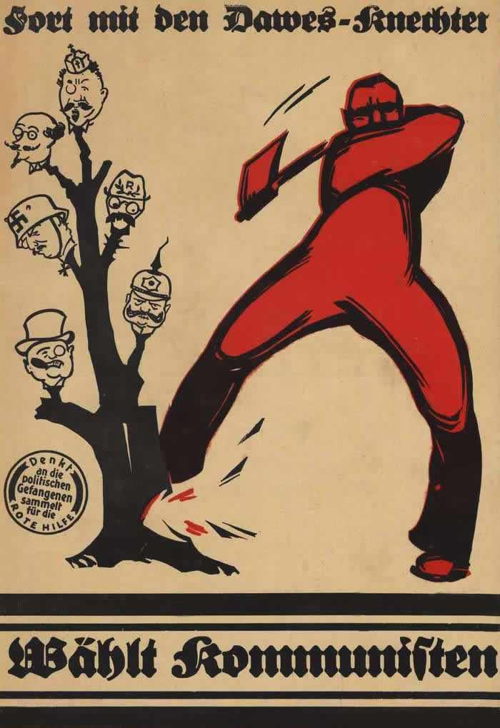 Займемся выкорчевыванием этих сорняков - голосуйте за коммунистов (1924 год)
