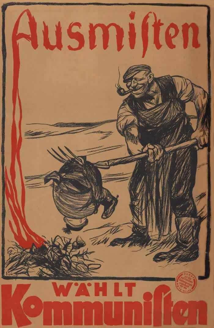 Избавимся от этих  паразитов - голосуйте за коммунистов (1924 год)