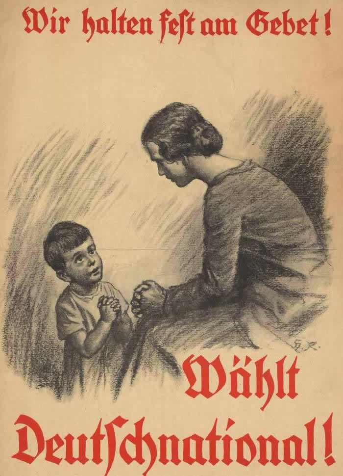 Мы молимся за ее победу - голосуйте за Немецкую национальную народную партию (1924 год)