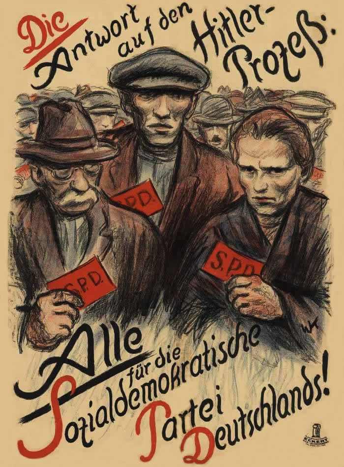 Наш ответ путчу Гитлера - все голосуем за социал-демократическую партию Германии (1924 год)