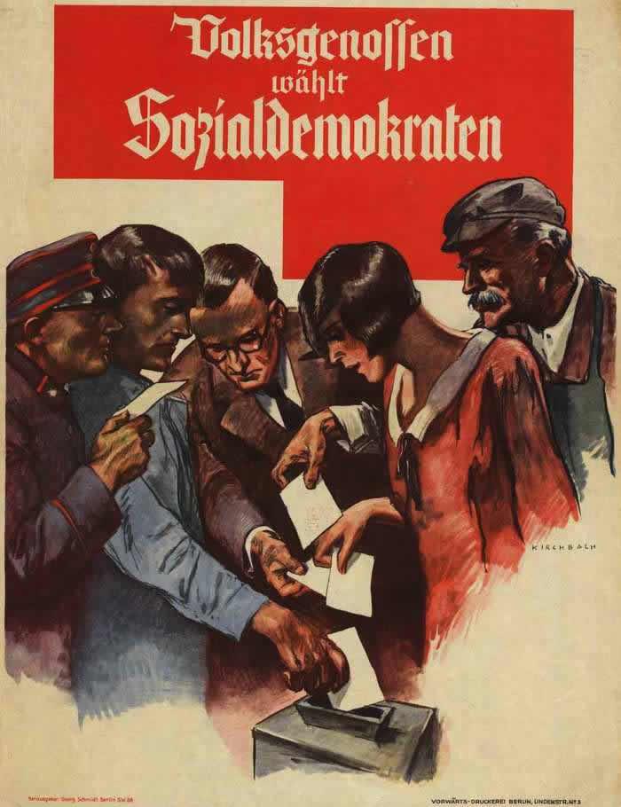 Все честные граждане голосуют за социал-демократов (1928 год)