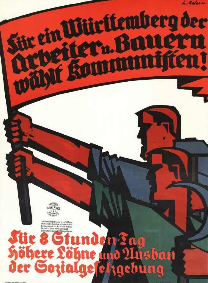 Рабочие и крестьяне Вюртемберга голосуют за коммунистов (1928 год)