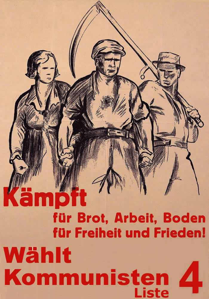 В своей борьбе за хлеб, работу, землю, народное единство и мир голосуйте за коммунистов (1930 год)