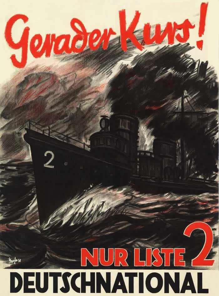 Правильным курсом! Голосуйте за Немецкую национальную народную партию (1930 год)