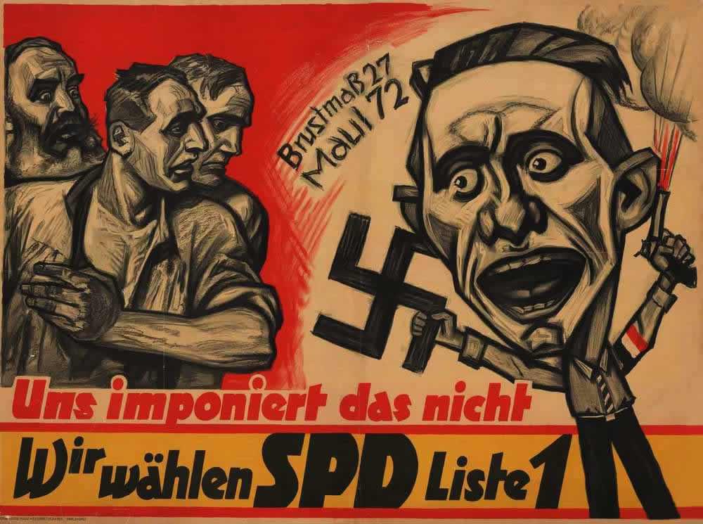 Такие лица нам неприятны - мы голосуем за социал-демократическую партию Германии (1930 год)