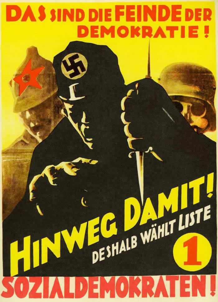 Все эти силы являются врагами демократии! Поэтому голосуйте на выборах за социал-демократов (1930 год)